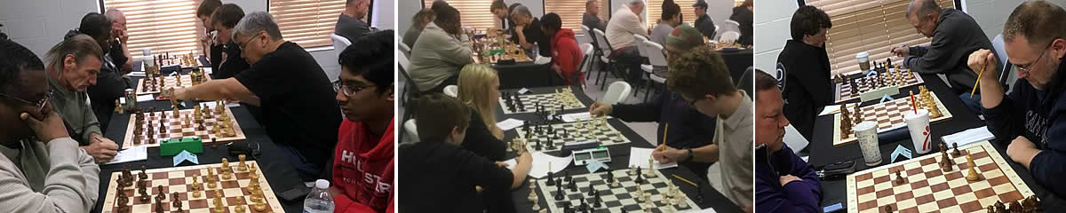Players at the Arlington Chess Club Open